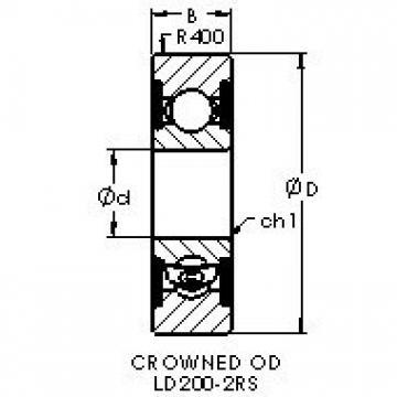 AST LD204-2RS deep groove ball bearings