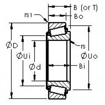 AST JM716649/JM716610 tapered roller bearings