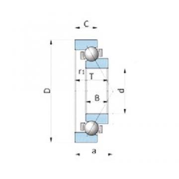 NSK BA230-2A angular contact ball bearings