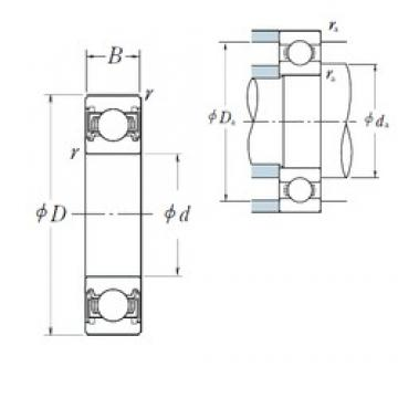 40 mm x 90 mm x 23 mm  40 mm x 90 mm x 23 mm  NSK 6308VV deep groove ball bearings