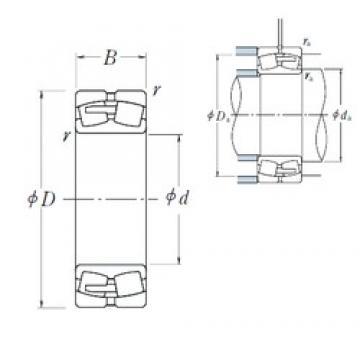 220 mm x 300 mm x 60 mm  220 mm x 300 mm x 60 mm  NSK 23944CAE4 spherical roller bearings