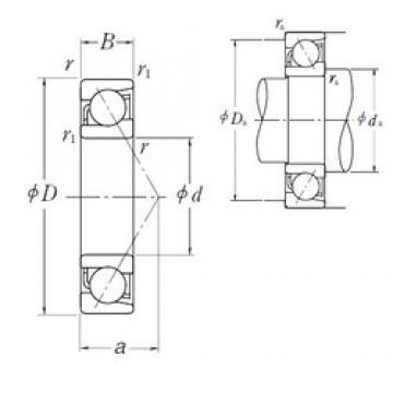 55 mm x 80 mm x 13 mm  55 mm x 80 mm x 13 mm  NSK 7911 A5 angular contact ball bearings