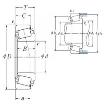 44,45 mm x 83,058 mm x 25,4 mm  44,45 mm x 83,058 mm x 25,4 mm  NSK 25580/25521 tapered roller bearings