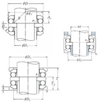 70 mm x 125 mm x 16 mm  70 mm x 125 mm x 16 mm  NSK 54314U thrust ball bearings