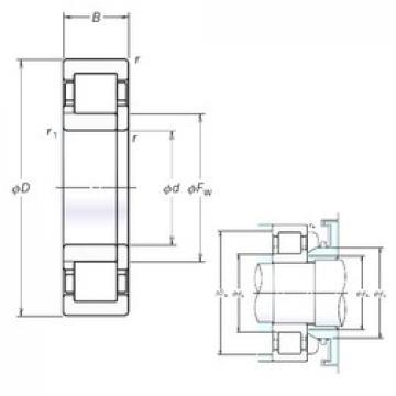 105 mm x 225 mm x 49 mm  105 mm x 225 mm x 49 mm  NSK NUP321EM cylindrical roller bearings