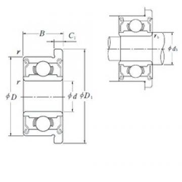 5 mm x 13 mm x 4 mm  5 mm x 13 mm x 4 mm  NSK F695ZZ deep groove ball bearings