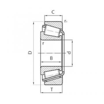39 mm x 72,015 mm x 21,5 mm  39 mm x 72,015 mm x 21,5 mm  FLT CBK-187 tapered roller bearings