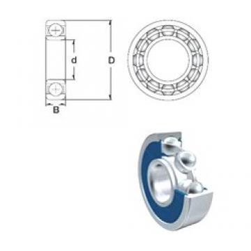 4,762 mm x 17,462 mm x 7,937 mm  4,762 mm x 17,462 mm x 7,937 mm  ZEN S1601-2RS deep groove ball bearings