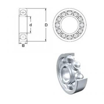 28,575 mm x 63,5 mm x 15,875 mm  28,575 mm x 63,5 mm x 15,875 mm  ZEN RLS9-2Z deep groove ball bearings