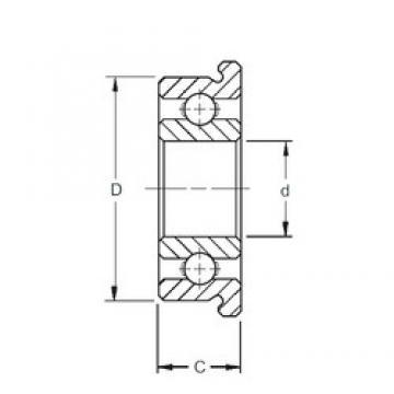 3 mm x 6 mm x 2 mm  3 mm x 6 mm x 2 mm  ZEN MF63 deep groove ball bearings
