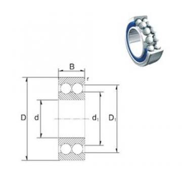 40 mm x 90 mm x 36,5 mm  40 mm x 90 mm x 36,5 mm  ZEN 5308-2RS angular contact ball bearings