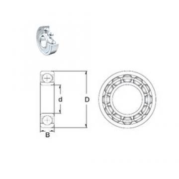 10 mm x 19 mm x 5 mm  10 mm x 19 mm x 5 mm  ZEN SF61800-2Z deep groove ball bearings