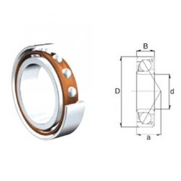 40 mm x 80 mm x 18 mm  40 mm x 80 mm x 18 mm  ZEN 7208B angular contact ball bearings