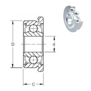 8 mm x 14 mm x 4 mm  8 mm x 14 mm x 4 mm  ZEN MF148-2Z deep groove ball bearings