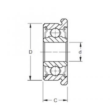 6,35 mm x 9,525 mm x 3,175 mm  6,35 mm x 9,525 mm x 3,175 mm  ZEN SFR168-2TS deep groove ball bearings