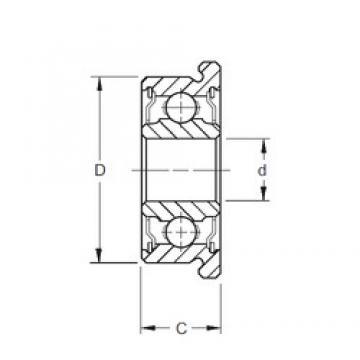 7 mm x 14 mm x 5 mm  7 mm x 14 mm x 5 mm  ZEN F687-2RS deep groove ball bearings