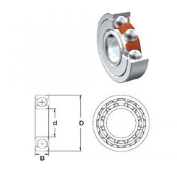 10 mm x 26 mm x 8 mm  10 mm x 26 mm x 8 mm  ZEN 6000-2Z.T9H.C3 deep groove ball bearings
