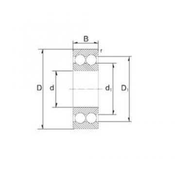 25 mm x 62 mm x 25,4 mm  25 mm x 62 mm x 25,4 mm  ZEN S3305 angular contact ball bearings
