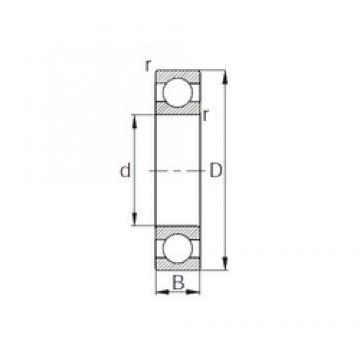 22 mm x 42 mm x 12 mm  22 mm x 42 mm x 12 mm  KBC 6004/22 deep groove ball bearings