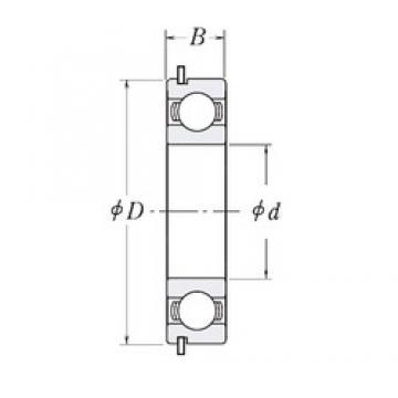 47,625 mm x 101,6 mm x 20,6375 mm  47,625 mm x 101,6 mm x 20,6375 mm  RHP LJ1.7/8-NR deep groove ball bearings