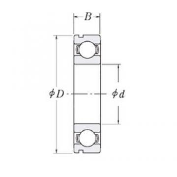 44,45 mm x 107,95 mm x 17,4625 mm  44,45 mm x 107,95 mm x 17,4625 mm  RHP MJ1.3/4-N deep groove ball bearings