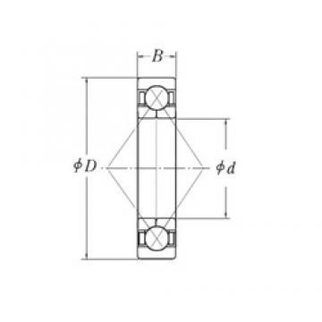 57,15 mm x 127 mm x 31,75 mm  57,15 mm x 127 mm x 31,75 mm  RHP QJM2.1/4 angular contact ball bearings