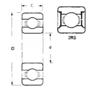 15 mm x 24 mm x 5 mm  15 mm x 24 mm x 5 mm  FBJ 6802-2RS deep groove ball bearings