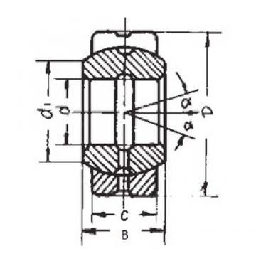 110 mm x 160 mm x 70 mm  110 mm x 160 mm x 70 mm  FBJ GE110ES plain bearings