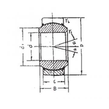 60 mm x 90 mm x 54 mm  60 mm x 90 mm x 54 mm  FBJ GEEM60ES-2RS plain bearings