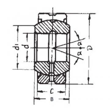30 mm x 47 mm x 22 mm  30 mm x 47 mm x 22 mm  FBJ GE30ES-2RS plain bearings