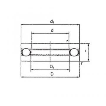 FBJ 3922 thrust ball bearings