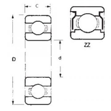 25,4 mm x 50,8 mm x 14,2875 mm  25,4 mm x 50,8 mm x 14,2875 mm  FBJ 1641ZZ deep groove ball bearings