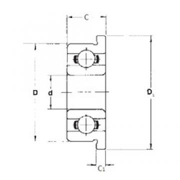 4,762 mm x 9,525 mm x 3,175 mm  4,762 mm x 9,525 mm x 3,175 mm  FBJ FR166 deep groove ball bearings