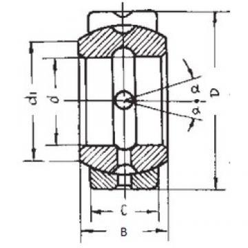 95,25 mm x 149,225 mm x 83,337 mm  95,25 mm x 149,225 mm x 83,337 mm  FBJ GEZ95ES plain bearings