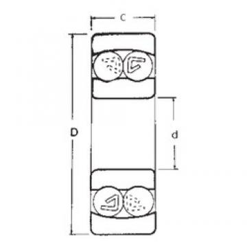10 mm x 30 mm x 9 mm  10 mm x 30 mm x 9 mm  FBJ 1200 self aligning ball bearings