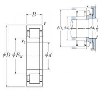 20 mm x 52 mm x 15 mm  20 mm x 52 mm x 15 mm  NSK NUP 304 ET cylindrical roller bearings