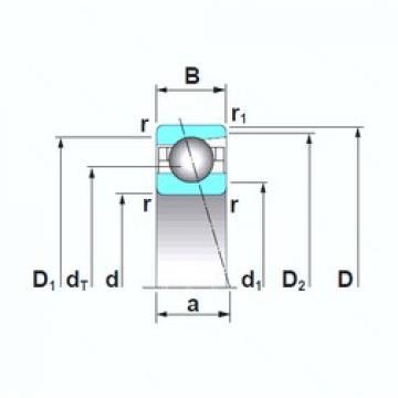 160 mm x 220 mm x 28 mm  160 mm x 220 mm x 28 mm  NSK 7932A5TRSU angular contact ball bearings