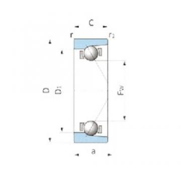 IJK ASB1947 angular contact ball bearings