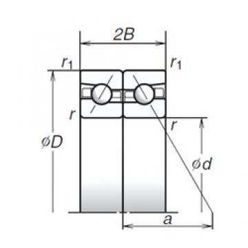 85 mm x 130 mm x 20,25 mm  85 mm x 130 mm x 20,25 mm  NSK 85BAR10H angular contact ball bearings