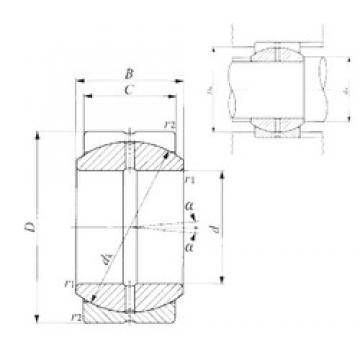 22 mm x 37 mm x 19 mm  22 mm x 37 mm x 19 mm  IKO SB 22A plain bearings
