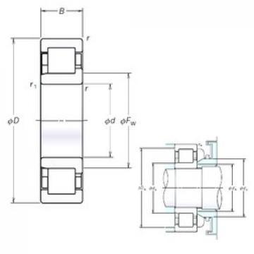 200 mm x 360 mm x 98 mm  200 mm x 360 mm x 98 mm  NSK NJ2240EM cylindrical roller bearings