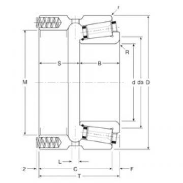 76,2 mm x 136,525 mm x 33,5 mm  76,2 mm x 136,525 mm x 33,5 mm  Gamet 133076X/133136XP tapered roller bearings