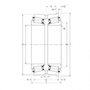 Gamet 102036/102072H tapered roller bearings
