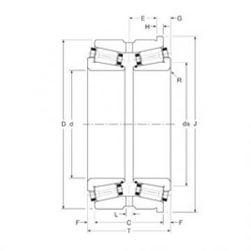 Gamet 130070/130120H tapered roller bearings