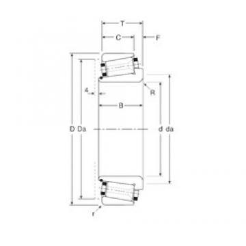 95 mm x 170 mm x 50,5 mm  95 mm x 170 mm x 50,5 mm  Gamet 210095/ 210170 tapered roller bearings