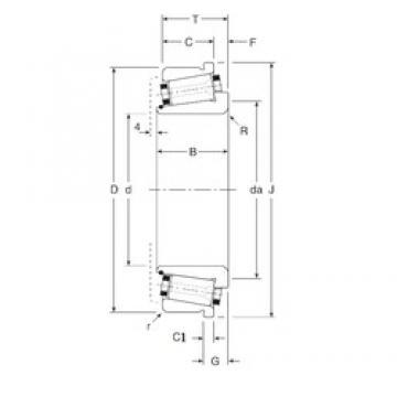33,338 mm x 66,675 mm x 23,5 mm  33,338 mm x 66,675 mm x 23,5 mm  Gamet 80033X/80066XC tapered roller bearings