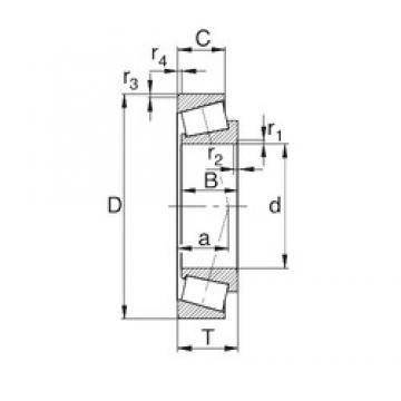 25 mm x 62 mm x 17 mm  25 mm x 62 mm x 17 mm  KBC 30305C tapered roller bearings