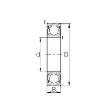 8 mm x 22 mm x 7 mm  8 mm x 22 mm x 7 mm  KBC 608ZZ1 deep groove ball bearings