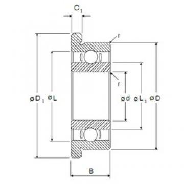 6 mm x 19 mm x 6 mm  6 mm x 19 mm x 6 mm  NMB RF-1960 deep groove ball bearings