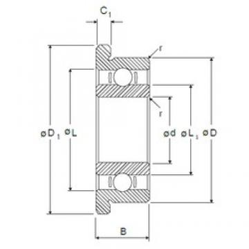 7,938 mm x 12,7 mm x 3,967 mm  7,938 mm x 12,7 mm x 3,967 mm  NMB RIF-8516 deep groove ball bearings